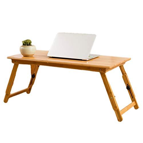 KALRTO Einfacher Bambus-Computerschreibtisch, Bett-Schreibtisch, fauler Tisch im kleinen Schlafsaal zum Heben und Klappen, Schreibtisch zu Hause, Bett, Terrasse 70x40CM