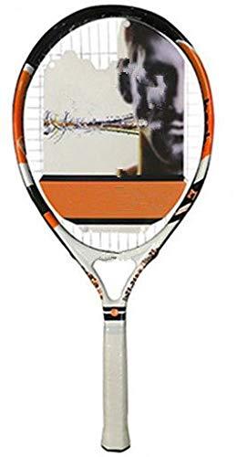 Raqueta de Tenis Ultraligera para niños, Bolsa de Cuerda, aleación de Aluminio y Carbono, Raqueta de Paleta para 21 Pulgadas, Amarillo