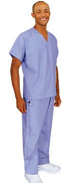 Cherokee Uniforms Authentic Workwear Unisex Scrub Set (Navy, M)