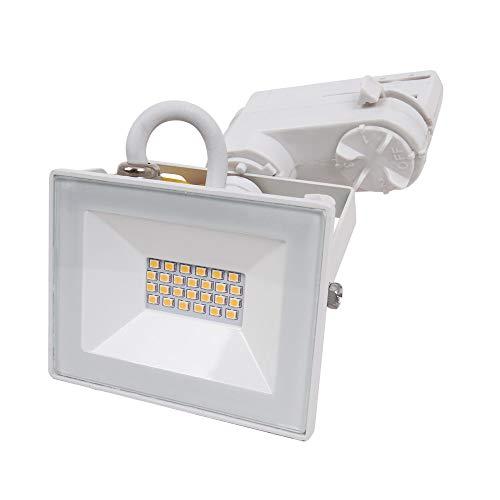 CLE LED Stromschienstrahler 20W weiss Adapter für Staff Erco Eutrac Uni Schiene
