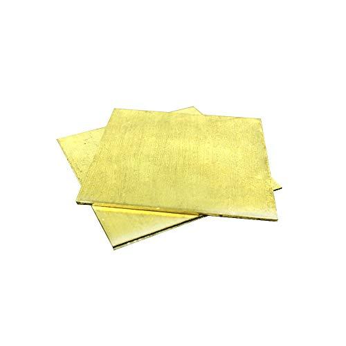 Messing plaat van CuZn40 2.036 CW509N C28000 C3712 H62 aangepaste grootte laser gesneden CNC mal DIY Frame metaal 1 * 100 * 200mm 2 STKS