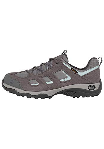 Jack Wolfskin Vojo Hike 2 Texapore Low, Scarpe da Arrampicata Basse Donna, Grigio (Tarmac Grey 6011), 39.5 EU