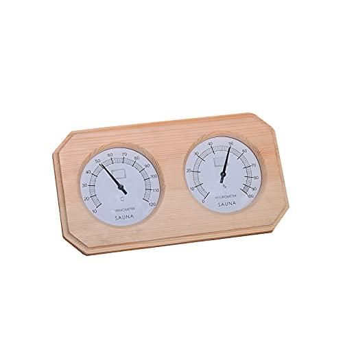 UNISOPH Termómetro, 2 en 1 Termómetro Digital de Madera para Sauna Higrómetro Temperatura de Humedad...