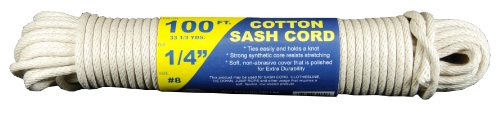T.W Evans Cordage 46-080 Number-8 1/4-Inch Buffalo Cotton Sash Cord 100-Feet Hank