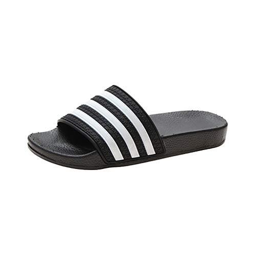 TTLOVE Damen Hausschuhe Pantoffeln Sommer Pailletten Casual Slippers Sommer Strand Schuhe Flache Schuhe Weicher Boden Sandalen Indoor/Outdoor rutschfest Badelatschen