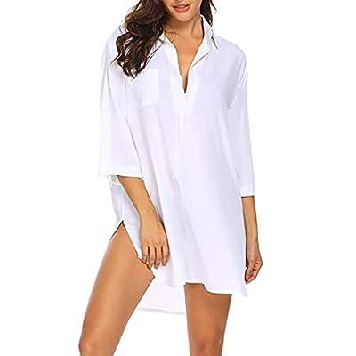 ASTUAFIA Women's Swimsuit Beach Cover Up Shirt Bikini Beachwear Bathing Suit Beach Dress