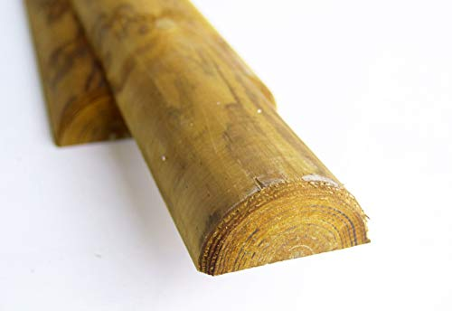 CF da 10PZ Mezzi Pali in legno CM 8 lunghezza CM 150 H per recinzione trattati impregnati per staccionata/steccato Mezzo Palo Tondo CARTOMATICA