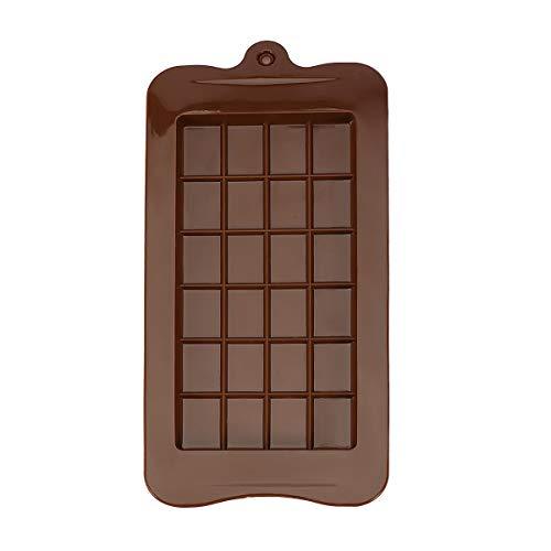 GARLIC PRESS 1Pcs Molde de Chocolate de Silicona Molde Tableta De Chocolate Color Marrón para Chocolate Caramelos Pasteles Decoraciones