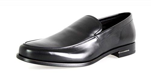 Prada Herren Schwarz Leder Loafer 2DB076 X3O F0002 43 EU/UK 9