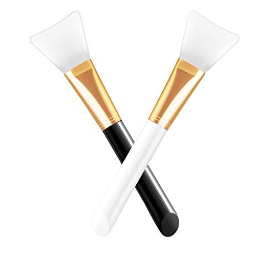 Spazzola in silicone per maschera viso, 2 confezioni di raschietti cosmetici in silicone senza peli, pennelli per applicare maschera facciale, siero o strumento per il trucco fai da te