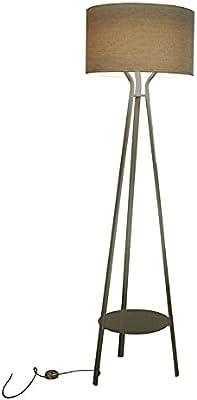ALLURE-Lampadaire Extérieur LED Métal H178cm Pied Gris Abat-jour Ivoire Slide - designé par Ilaria Marelli