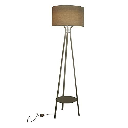 Allue - Lámpara de pie exterior LED de metal de 178 cm de altura, con pie gris marfil – Diseñado por Ilaria Marelli