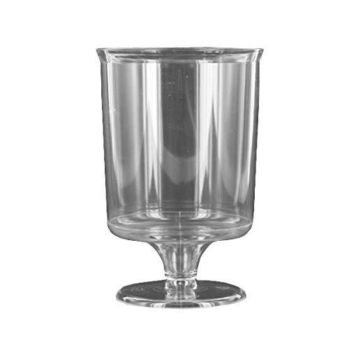 IPI 240 Verres à Pied Cristal Plastique réutilisable Rigide 16 cl