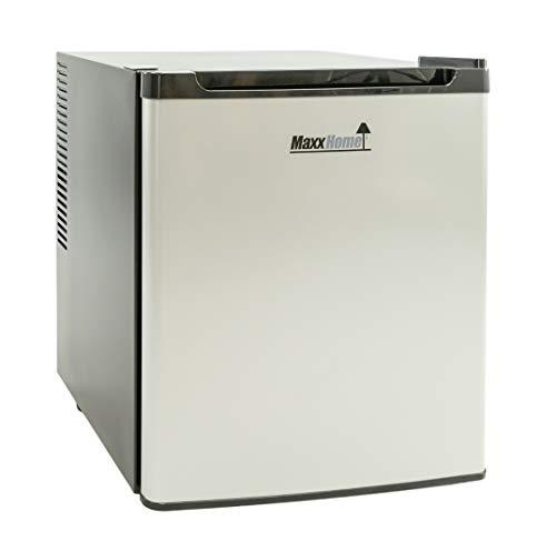 MaxxHome Mini Frigo - Mini Bar Termoelettrico e Piccolo Frigorifero Indipendente con Funzionamento Silenzioso – Temperatura Regolabile - 42L (Grigio/nero)