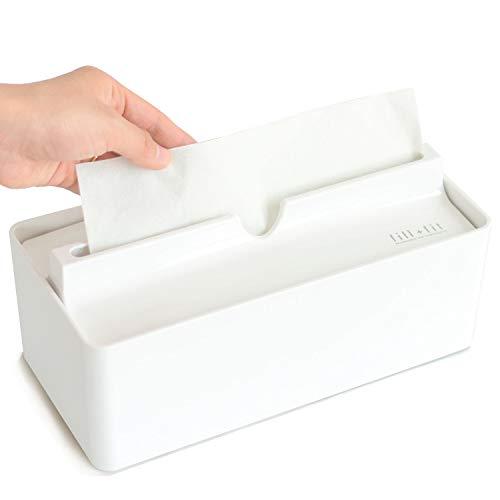 オカ(OKA) fill+fit(フィルフィット) ペーパータオルケース リップタイプ ホワイト (ティッシュケース)