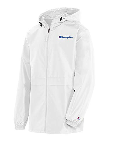 Champion Men's Full Zip Jacket, White, Small
