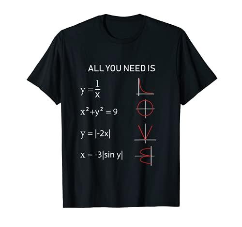 Mathe All you need is Love T-Shirt Lehrer Geschenk Professor T-Shirt