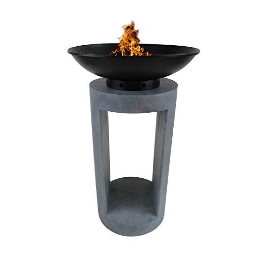 OUTLIV. Feuerschale auf Säule Ø40x67cm Clayfibre