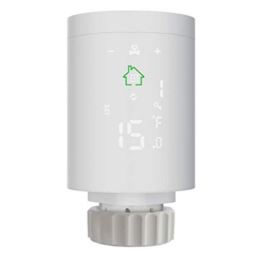 Varadyle Actuador de Radiador Inteligente ZigBee 3,0 Controlador de Temperatura de VáLvula de Radiador TermostáTico Programable Control de Voz Alexa