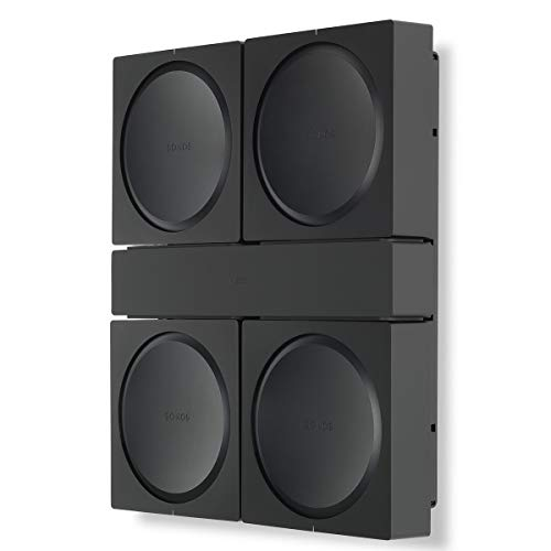 Flexson Wall Mount Sonos Amp - Black (x4)