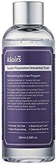 [KLAIRS] Supple Preparation Unscented Toner 6.08 fl oz, lightweight, essential oil-free, alcohol free