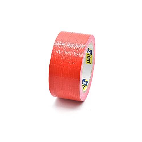 Takestop® - Cinta americana adhesiva - Color rojo - Súper resistente - Medidas 50mm x 25m - Extra fuerte - Impermeable - Ideal para sellar, embalar y reparar