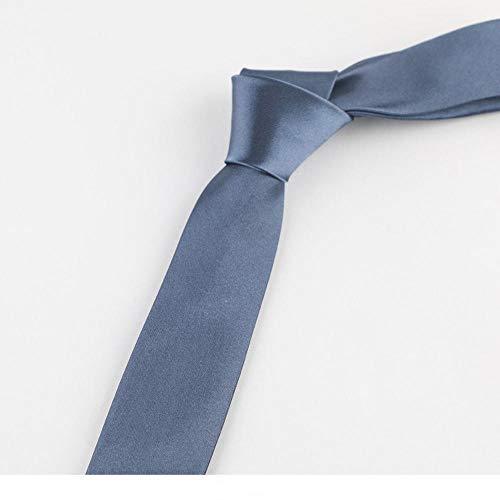 smilecstar Krawatte Herren Business Bankett Kleid Schmale Krawatte Einfache Mode 145 * 5cm Blaugrau