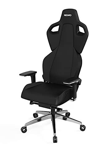 RECARO Exo Platinum Gaming Chair - ergonomischer, höhenverstellbarer Gaming Seat der Extraklasse - Black & Black