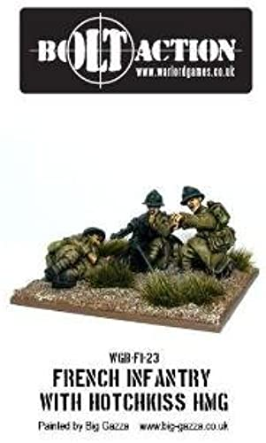 preferente Bolt Action Action Action - Early War French Mmg Team by Warlord Games  descuento