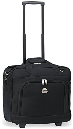 HiPack Multi-use Rolling Trolley Overnight Bag-TSA Approved Carryon (Black)