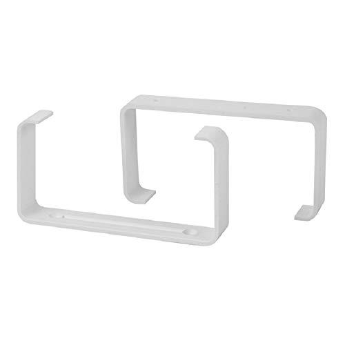 Abrazaderas rectangulares de plástico, 55 x 200 mm, 2 unidades, para sistemas de ventilación