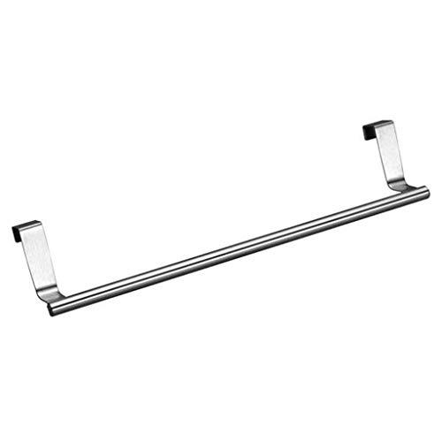 Keukenorganisatie en opslag Baskets rekken handdoekhouder boven deur zilver 23 x 2 cm bar hangrek badkamerkast-rek zilver