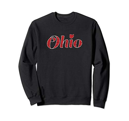 Vintage Ohio Script with State of Ohio Sweatshirt