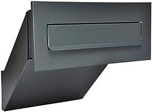 Muurdoorwerp brievenbus antracietgrijs mat NIEUW inbouwbrievenbus RAL 7016 (antracietgrijs) XXL