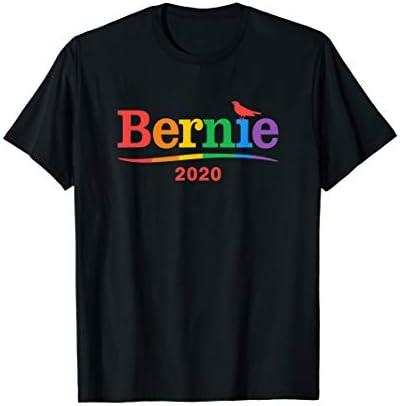 Bernie 2020 Rainbow Gay LGBT Bird Bernie Sanders T Shirt product image