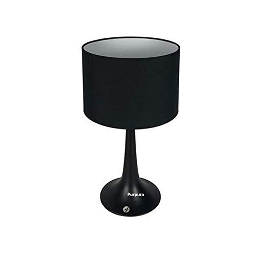 Bloomingtulipszz Tischlampe, Tischlampe in Holz Nachttischlampe, inkl. LED Birne, 7W, lesbar, Schreibtisch, Beistelltisch, hohe Tischlampe, Bildschirmleuchte (weiß)