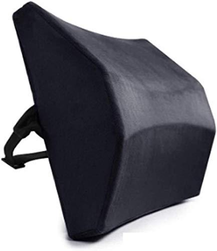 Lendensteun Kussen Kussen Ontworpen voor pijn in de onderrug Rugkussen Verstelbare riemen voor bureaustoel/autostoel/fauteuil Zwart