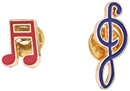 Music Clef Symbol Enamel Pins Fashion Spring new work Treble Cartoon Brooch Discount mail order Bass