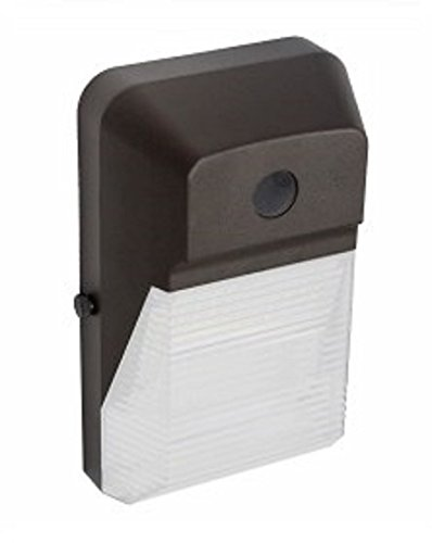 Ciata Lighting LED Wall Pack With Photocell - Frosted Lens - 5000K Outdoor Lighting Wall Mount 2,113 Lumens Weatherproof, Waterproof LED Light Fixture for Porch, Walkway or Commercial Store (Bronze)