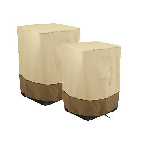 XIGG 2 Pcs Patio Furniture Cover, Outdoor Yard Garden Fire Column Cover, Waterproof Oxford Cloth Sun Protection Cover, 20.9' × 20.9' × 35'