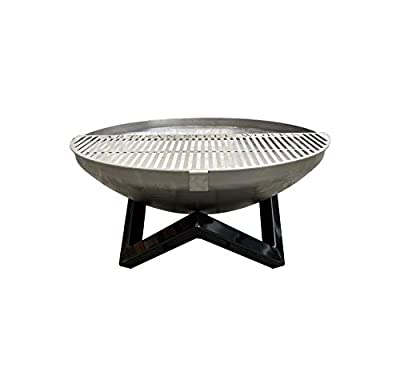 Cheshire Onsite Welding Fire Pit 60cm & 62cm Half Grille Stainless Steel Outdoor Garden Bowl Patio Heater BBQ Log Burner by J L House Security