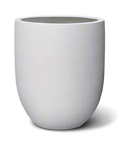 VAPLANTO® Pflanzkübel Tall Egg Pot 40 Weiß Rund * 40 x 47 x 47 cm * 10 Jahre Garantie