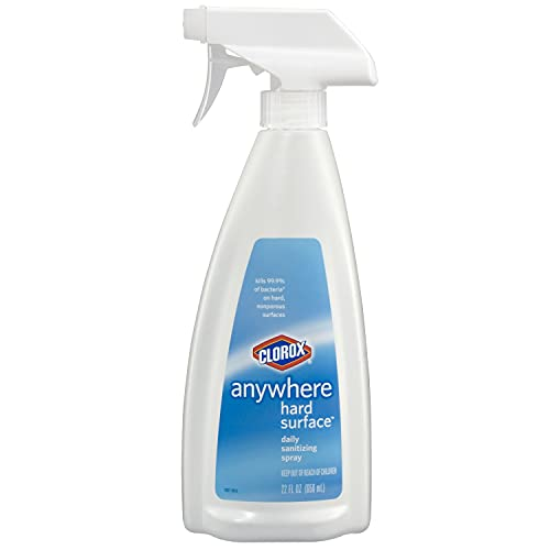 Clorox Anywhere Hard Surface Daily Sanitizing Spray 22 Ounce Spray Bottle - Pack of 9 (Package May Vary)