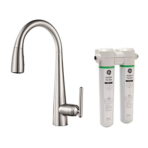 Pfister GT529-FLS Lita Xtract Pull Down Kitchen Faucet with Integrated Water Filter, Stainless Steel