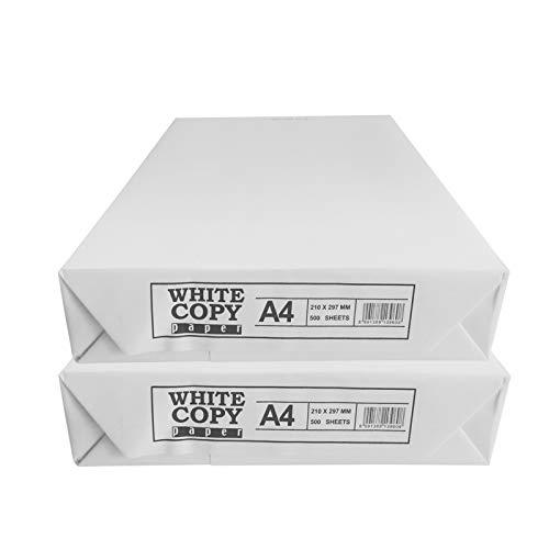 versando White Copy Paper - Carta per fotocopiatrici e stampanti a getto d'inchiostro, formato DIN A4, 75 g/mq, colore bianco (02) Bianco - 1.000 fogli