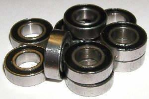 10 Sealed Bearing R6-2RS 3/8 x 7/8 x 9/32 inch Miniature Ball Bearings VXB Brand
