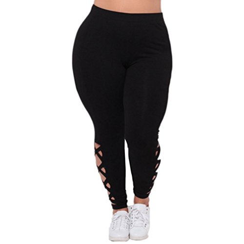 Oyedens Damen Kreuz und quer Tummy Control Yoga Pants Sport Leggings Hohe Taille Fitnesshose Blickdichte Training Tights Sporthose...