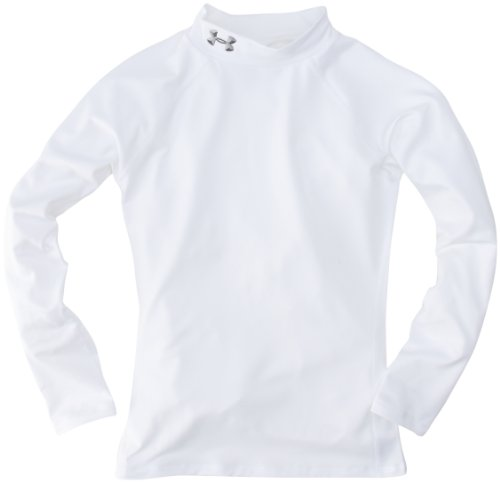 Under Armour Mädchen Hemd UA Evo CG Fitted Mock, wht, YL