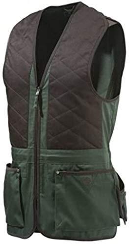 Beretta Schießweste Trap Unisex Braun-Grün Cotton Vest, Größen:XL
