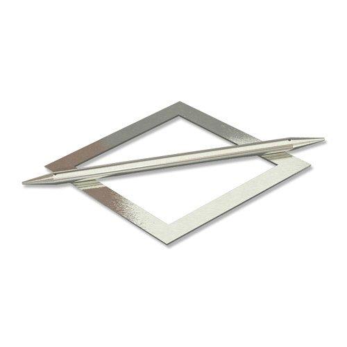 INTERDECO Raffspangen/Gardinenspangen (2 Stück) Edelstahl Optik aus Metall, Avos Raute